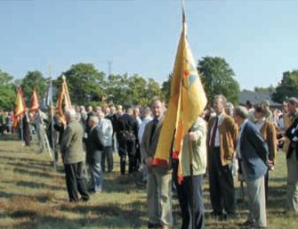 Vi deltar regelmässigt, tillsammans med övriga kamratföreningar i Skåne, varje år i Södra Skåningarnas Dag på Revingehed.